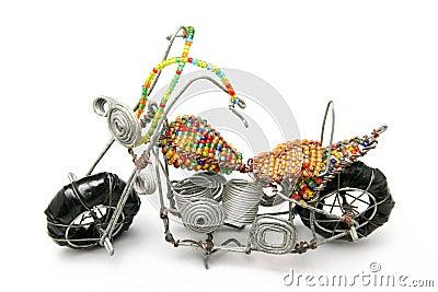 Wire model motor bike