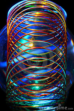 Wire spiral abstract