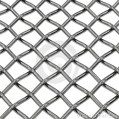 Wire steel net close-up