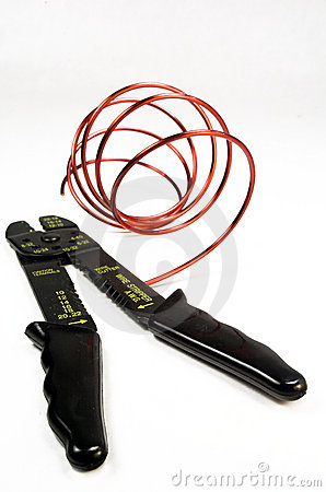 Free Wire Stripper Isolation On Whi Stock Photography - 5297682