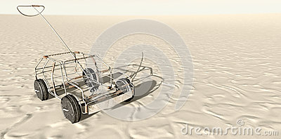Wire Toy Car In The Desert Top