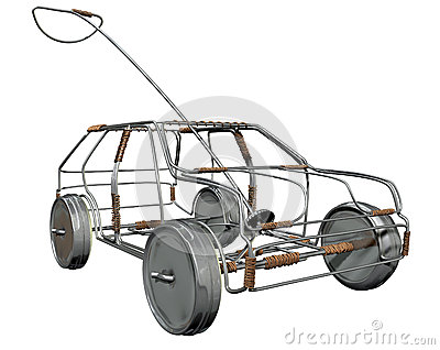 Wire Toy Car Perspective