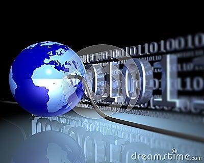 Wired globe
