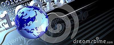 Wired globe banner