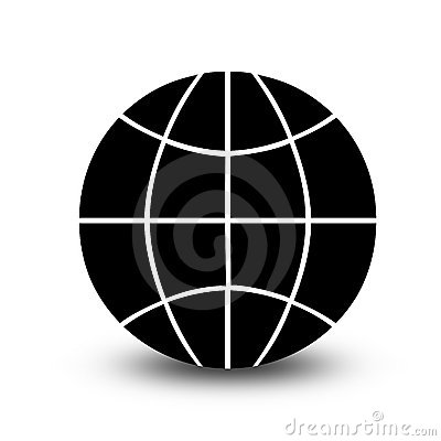 Wireframe globe icon