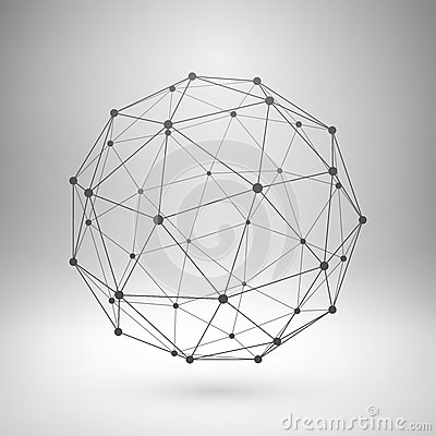 Free Wireframe Mesh Polygonal Sphere Stock Photos - 49722363