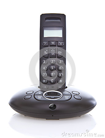 Wireless black telephone