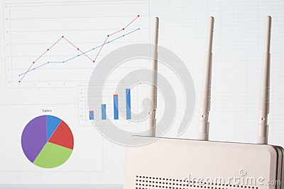 Wireless business concept