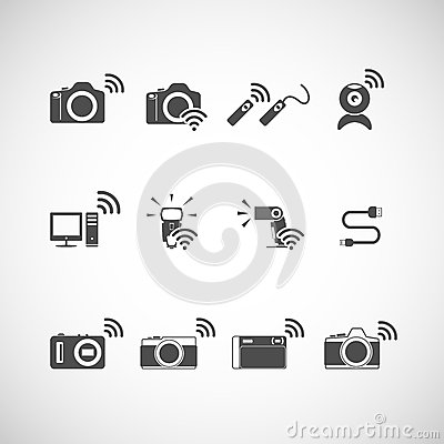 Free Wireless Camera Icon Set, Vector Eps10 Stock Images - 42904474