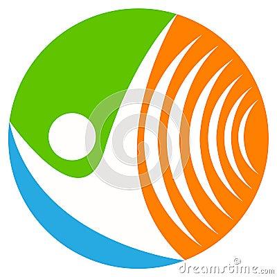 Wireless communication logo
