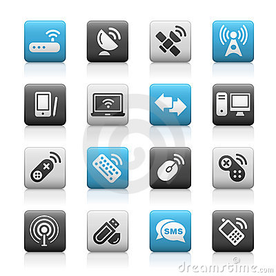 Wireless & Communications // Matte Icons Series