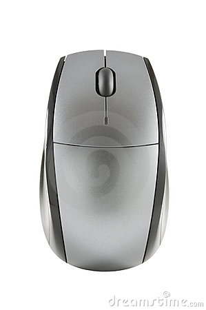 Wireless computer mouse with clipping path