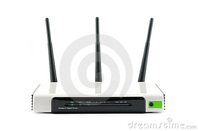 Router Gigabit on Stock Photos  Wireless Gigabit Broadband Router  Image  17997413