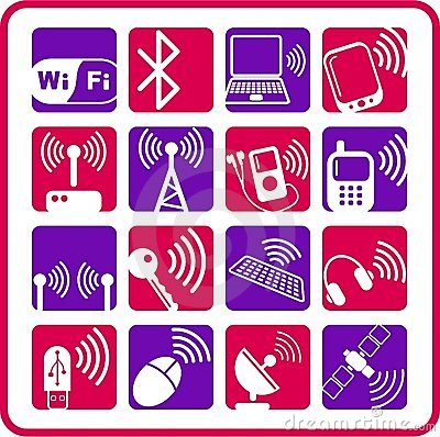 Free Wireless Icons Stock Photography - 5311912