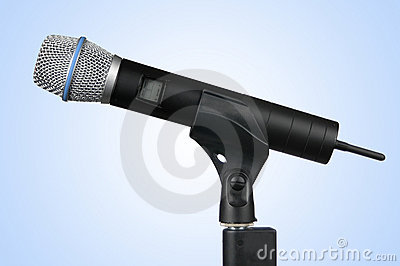 Wireless Microphone (With Clipping Path)
