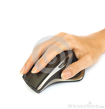 Wireless mouse with hand