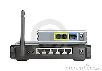 Wireless router and internet phone adapter