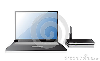 Wireless Router and laptop