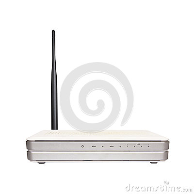 Free Wireless Router With The Antenna Royalty Free Stock Images - 47924269