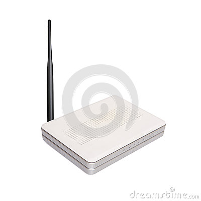 Free Wireless Router With The Antenna Stock Photography - 47924272