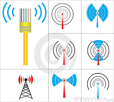 Wireless Signs vector