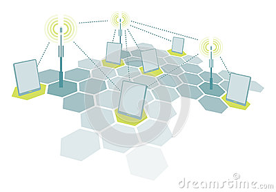 Wireless tablet network communication