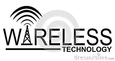 wireless technology logo royalty free stock image image