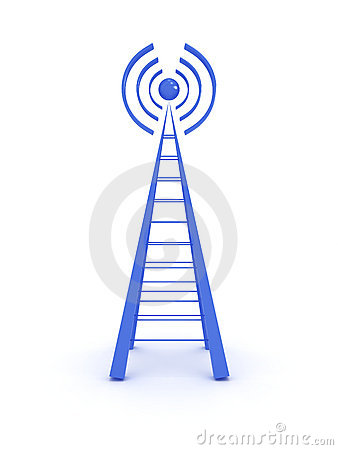 Wireless tower isolated