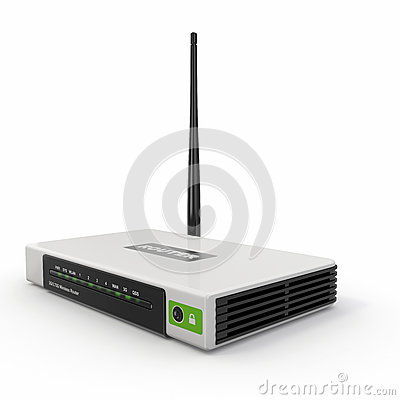 Wireless wifi Router on white  background