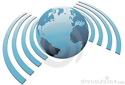 Wireless world wifi Earth broadband symbol