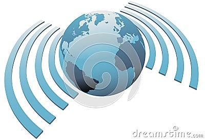 Wireless World Wifi Earth Broadband Symbol Royalty Free