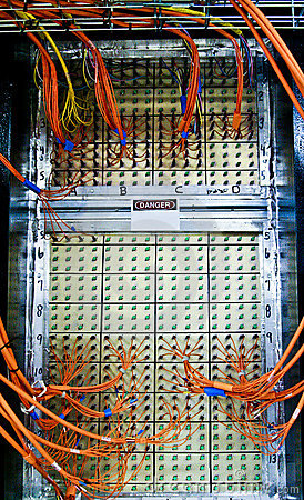 Wires on an electronic server