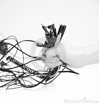 Wires in hand