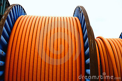 Wires on metal spool