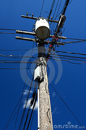 Wires On A Pole