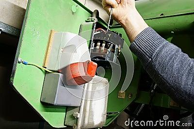 Wiring industrial machine A