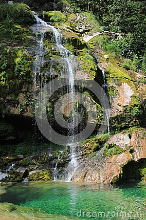 Virje waterfall, Kanin mountains, Slovenia