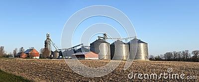 Wisconsin Dairy Farm Grain Elevator Silos