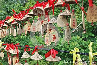 Wish and prayer ornaments