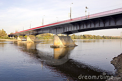 Wisla bridge in Warsaw