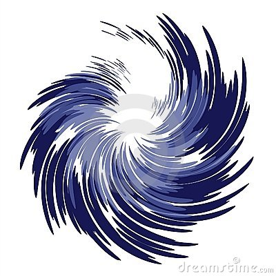 Wispy Feathery Blue Swirl