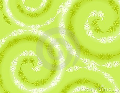 Wispy Soft Green Spring Background