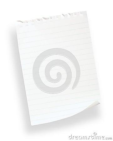 Wit gevoerd document (met het knippen van weg)