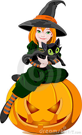 Free Witch And Cat Stock Photos - 11143833