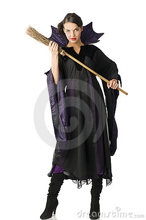 The witch with broom