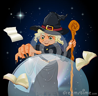 A witch doing a spell