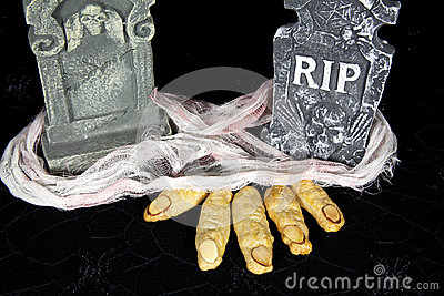 Witch Fingers in Grave