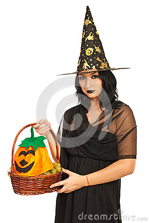 Witch holding basket