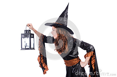 Witch isolated
