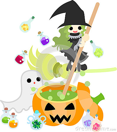 A witch making medicine of magic.
